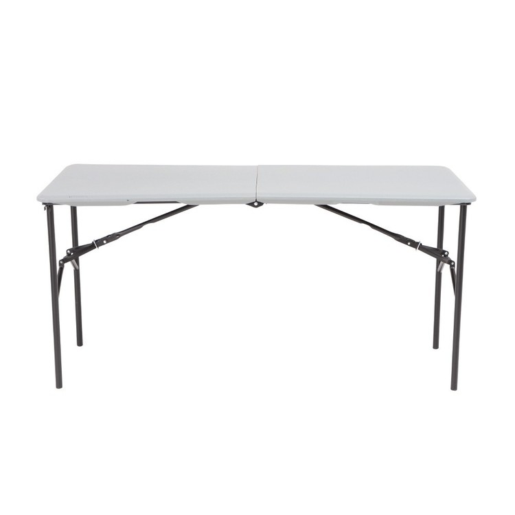 Lifetime 5' Fold In Half Blow Mould Table White 5 ft
