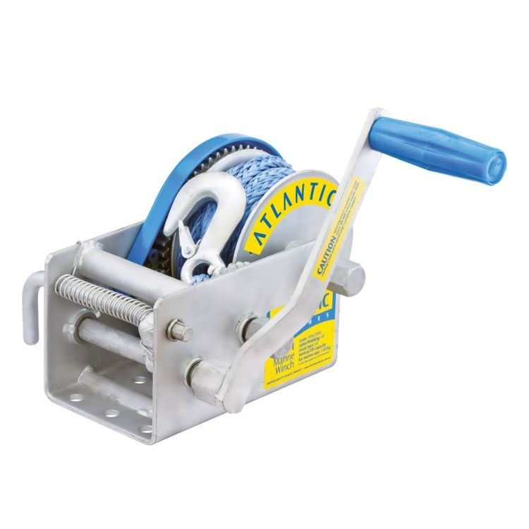 Atlantic Dyneema Winch 1500kg 3 Speed HD Ratio 7.5m x 7mm Snap Hook