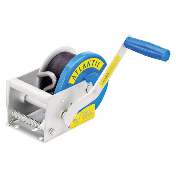 Atlantic Webbing Winch 550 kg 3:1 Ratio 6m S Hook