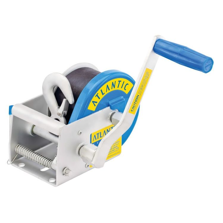 Atlantic Webbing Winch 775kg 2 Speed Ratio 7.5m Snap Hook