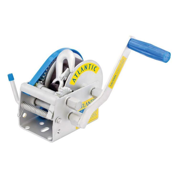 Atlantic Webbing Winch 1135kg 3 Speed Ratio 7.5m Snap Hook