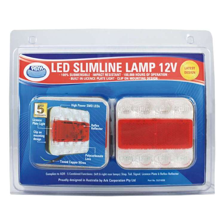 Ark Trailer Lights SLD10 Led Slim Line Combo Pack