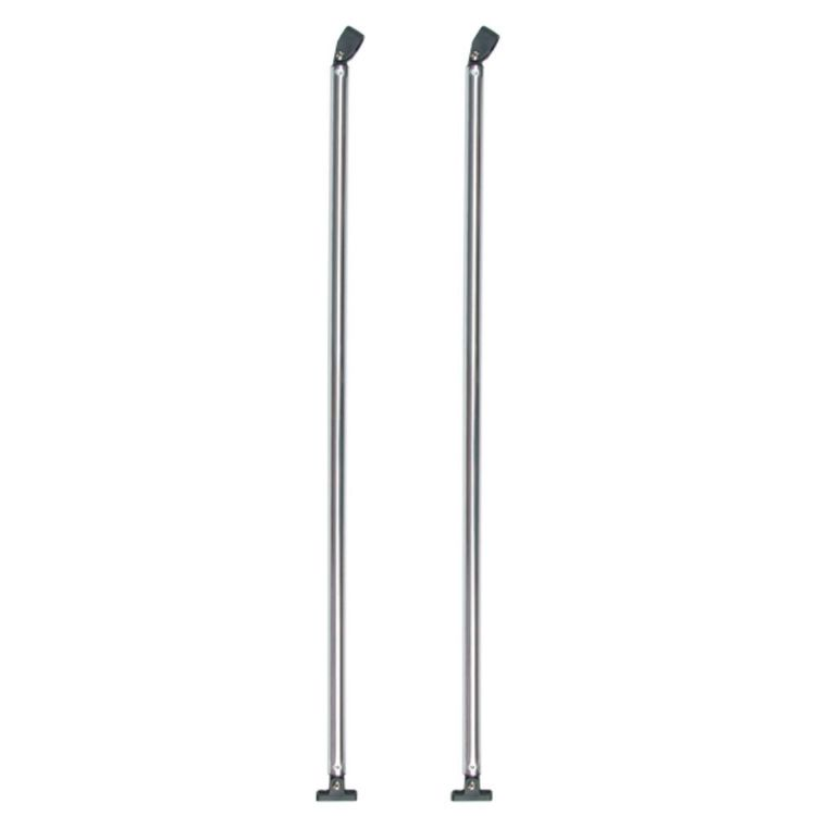 Oceansouth Bimini Support Poles - Fixed 1100 mm Pair Silver