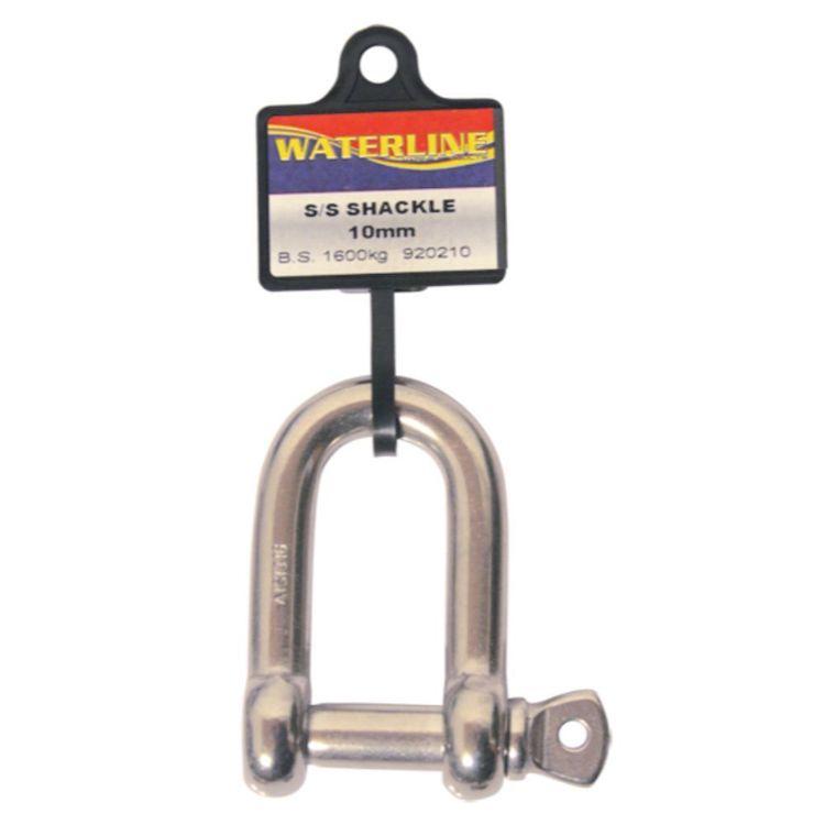 Waterline Stainless Steel Dee Shackle 10mm