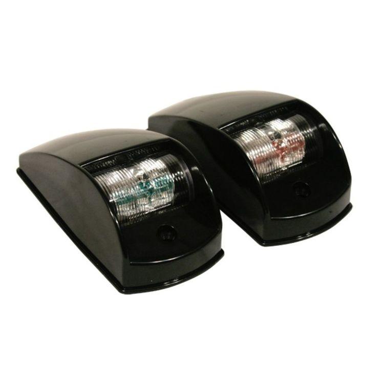 Waterline LED Port And Starboard Side Mount Navigation Lights Black