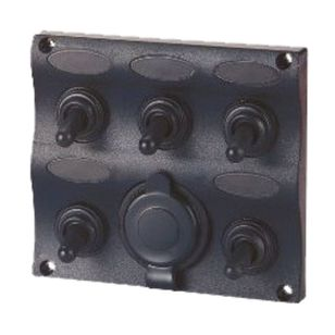 Waterline Waterproof 5 Gang Switch Panel