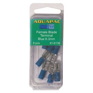 Aquapac Blue Female Blade Terminal 8 Pack