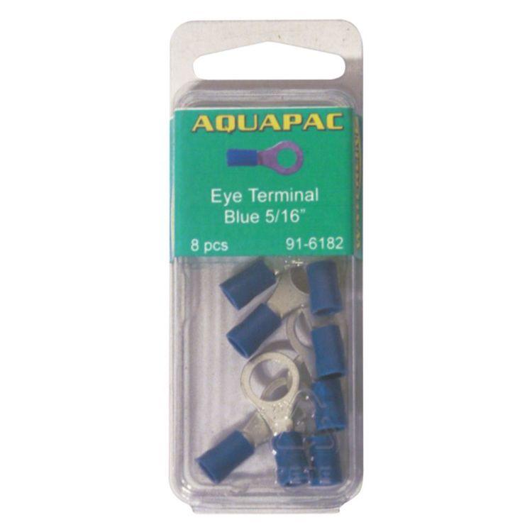 "Aquapac Blue Eye Terminal 5/16"" 8 Pack"