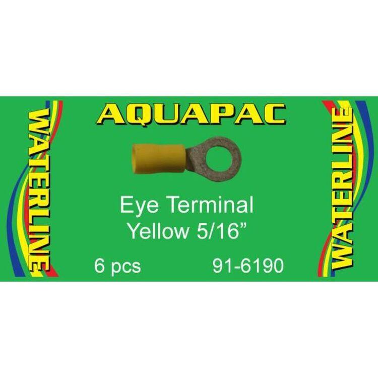 "Aquapac Yellow Eye Terminal 5/16"" 6 Pack"