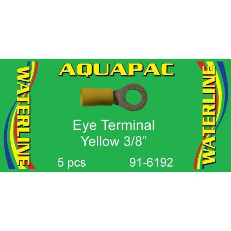 "Aquapac Yellow Eye Terminal 3/8"" 5 Pack"