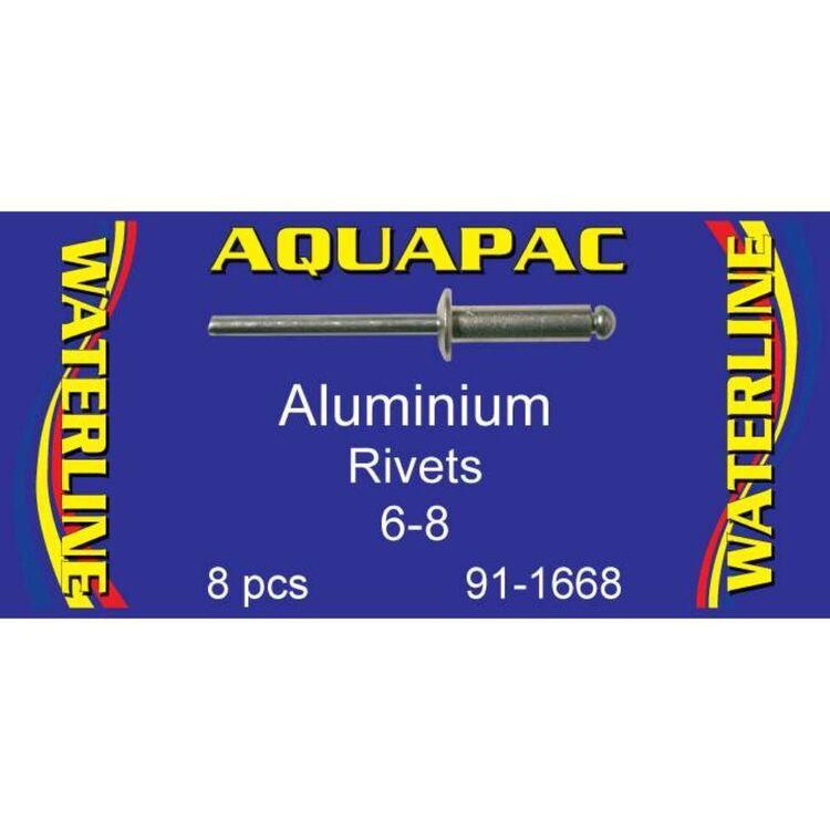 Aquapac Rivet Aluminium 6-8 8 Pack