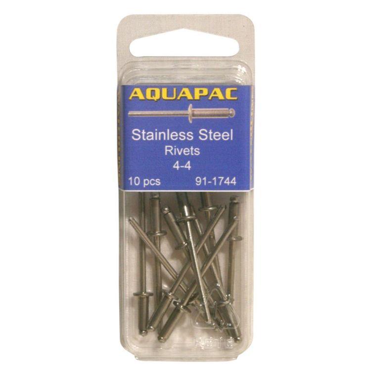 Aquapac Rivet Stainless Steel 4-4 10 Pack