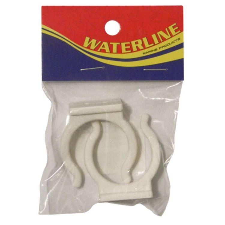 Waterline White Tube Holder 25mm 2 Pack