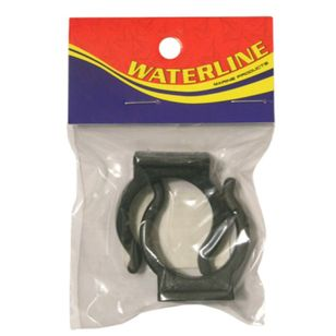 Waterline Black Tube Holder 25mm 2 Pack
