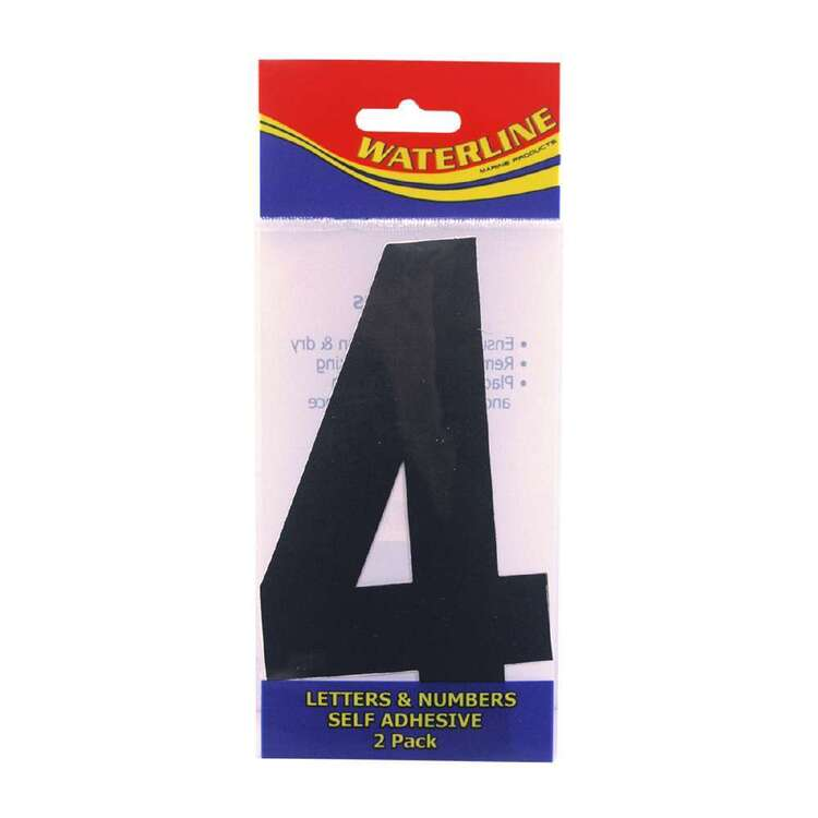 """Waterline Boat Number """"4"""" 4 Inch 2 Pack"""