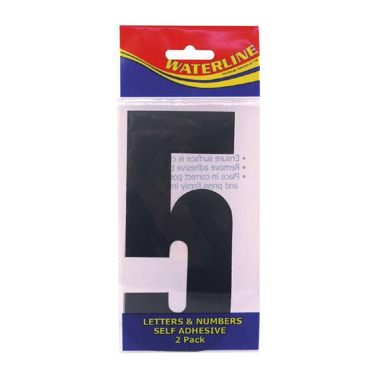 "Waterline Boat Number ""5"" 4 Inch 2 Pack"