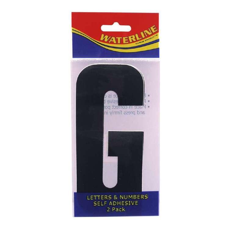 "Waterline Boat Letter ""G"" 4 Inch 2 Pack"