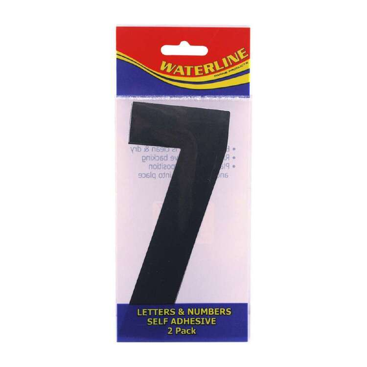 """Waterline Boat Number """"7"""" 6 Inch 2 Pack"""