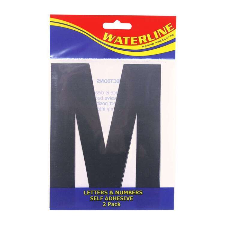"Waterline Boat Letter ""M"" 6 Inch 2 Pack"