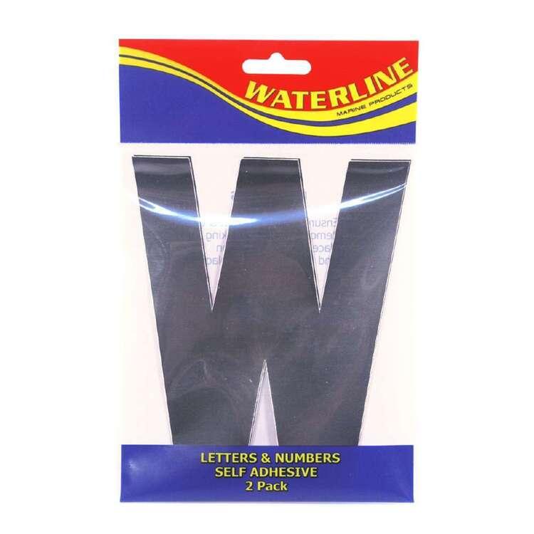 """Waterline Boat Letter """"W"""" 6 Inch 2 Pack"""