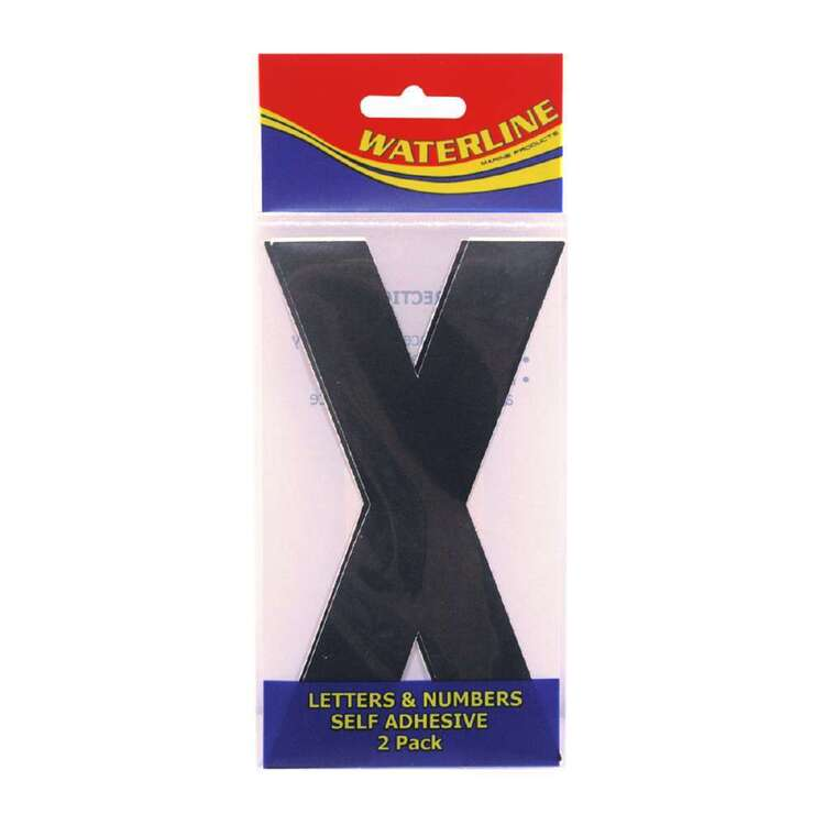 "Waterline Boat Letter ""X"" 6 Inch 2 Pack"