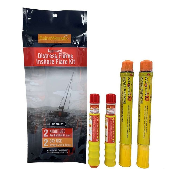 Pains Wessex Inshore Flare Kit Red & Yellow