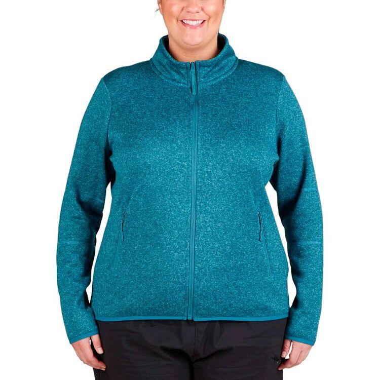 Cape Women's Layla II Full Zip Knitted Outer Fleece Top Plus Size