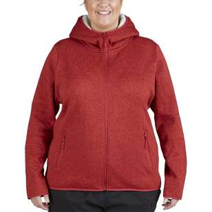 Cape Women's Petunia Sherpa Lined Full Zip Hoodie Plus Size