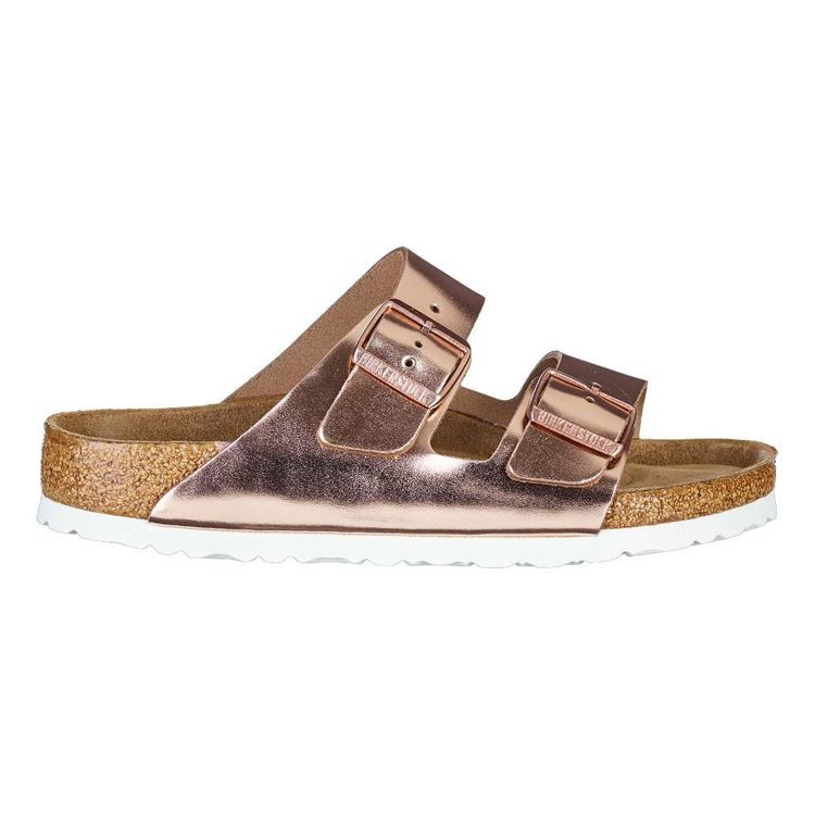 Birkenstock Women's Arizona Birko-Flor Nubuck Copper Sandals