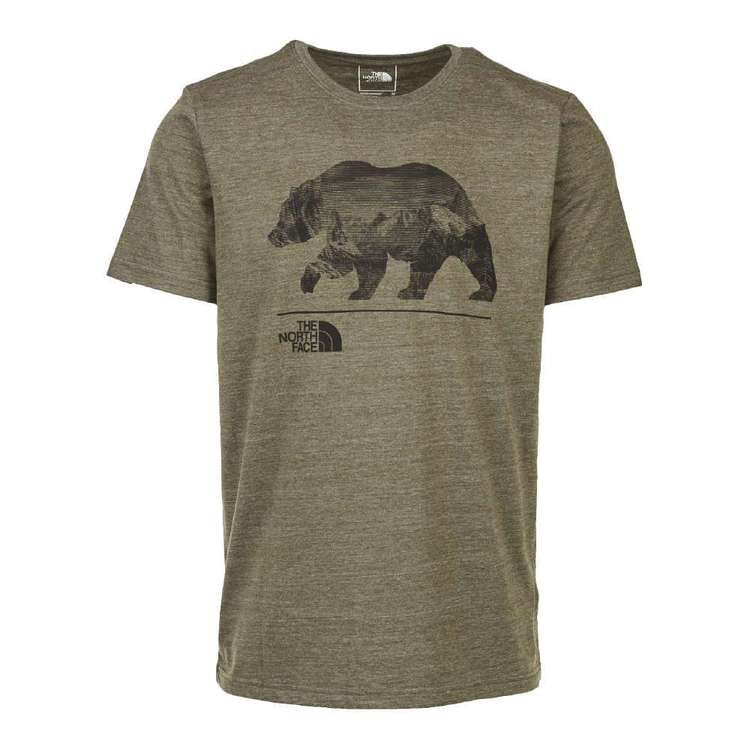 The North Face Men's Bearinda Tri Blend Tee Taupe Green
