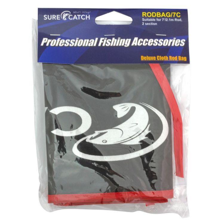 SureCatch Deluxe Cloth Rod Bag Suitable for 7' 2 Piece Rods