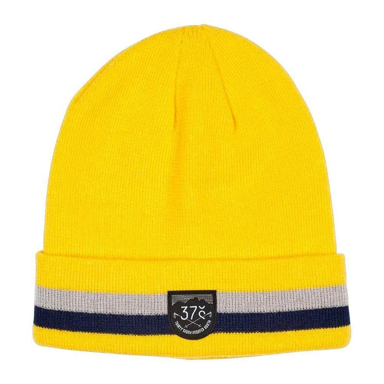 37 Degrees South Men's Old School Beanie Yellow
