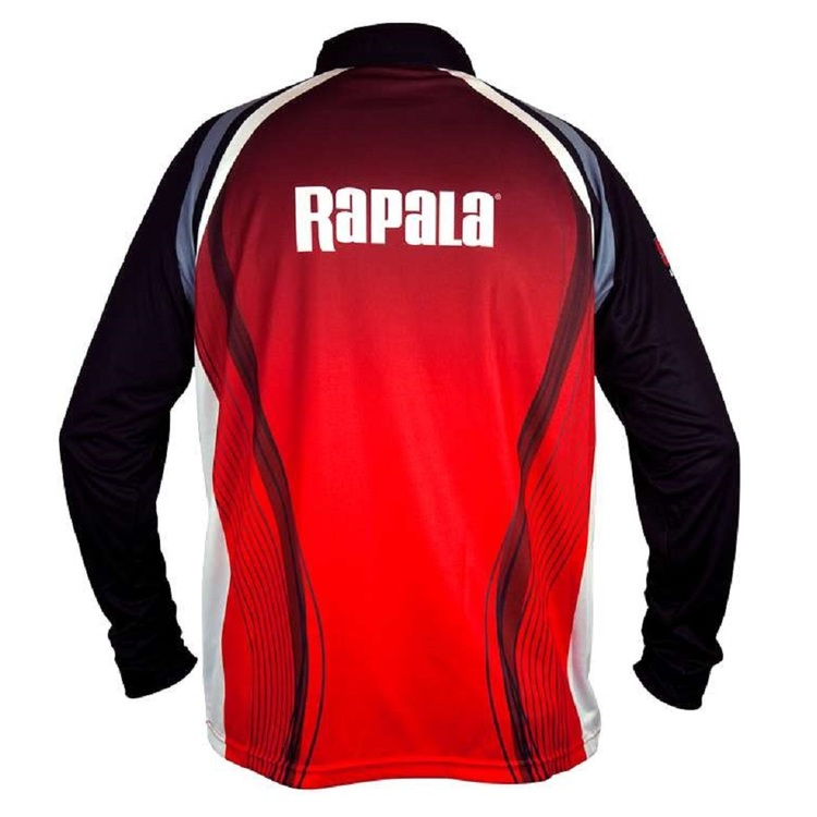 Rapala Tournament Sublimated Shirt Red