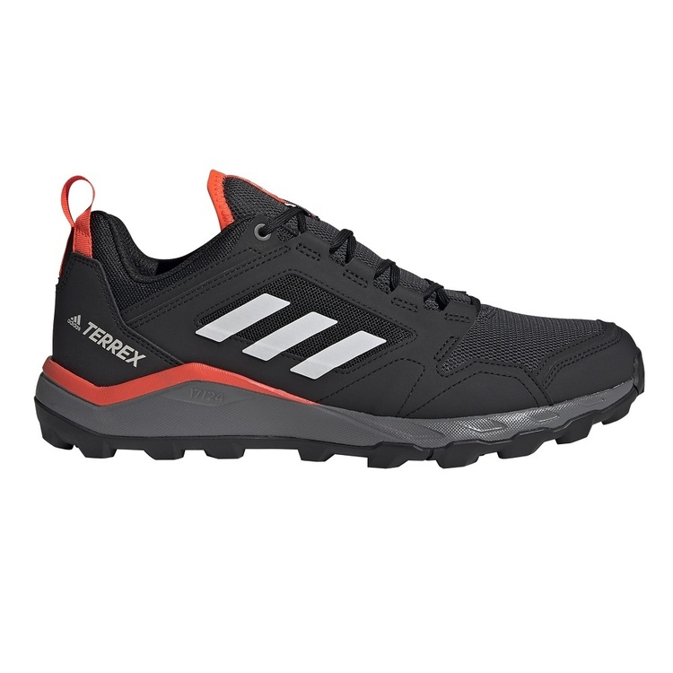 adidas Terrex Agravic Mens Trail Running Shoes Black, Grey & Red