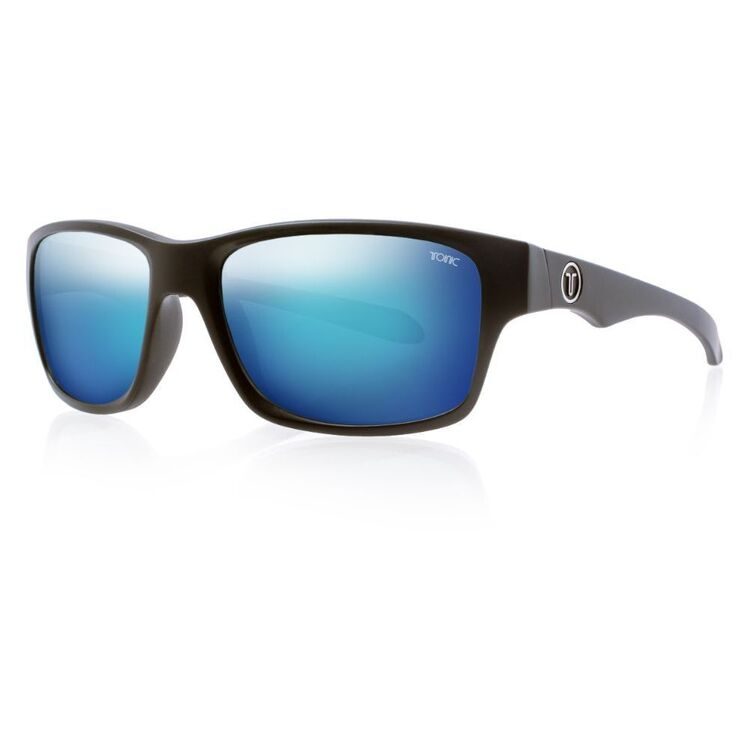 Tonic Tango Sunglasses Matte Black & Blue Mirror