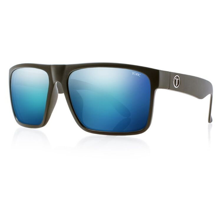 Tonic Outback Sunglasses Matte Black & Blue Mirror