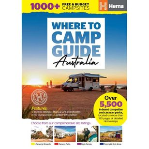 Hema Where To Camp Guide Australia