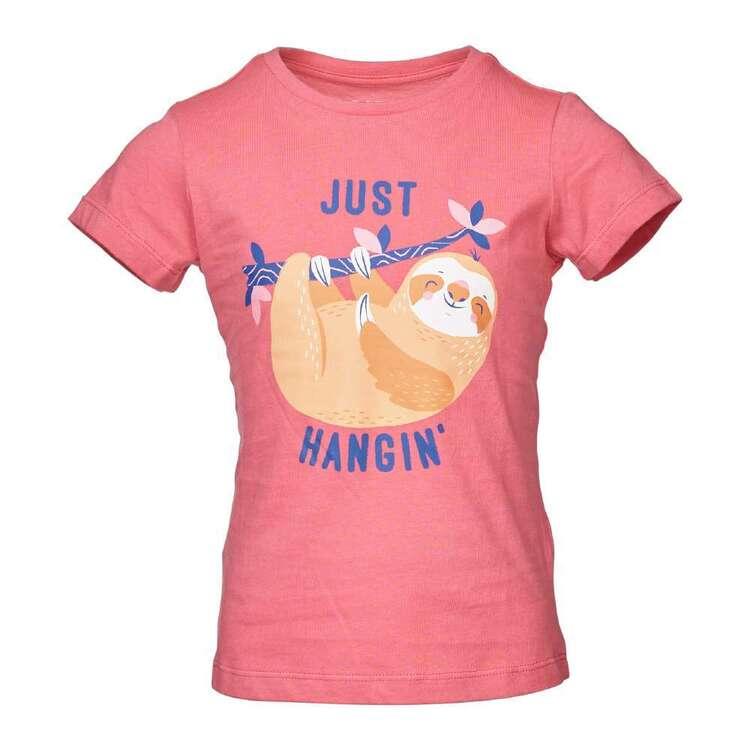 Cape Girls' Just Hangin' Sloth Tee