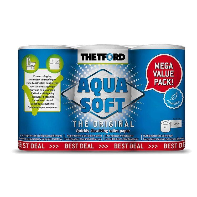 Thetford Aqua Soft Toilet Rolls 6 Pack