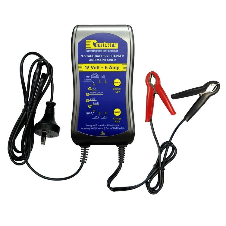 Century Battery Charger Blue