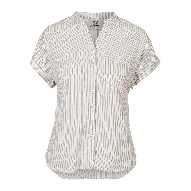 Gondwana Women's Kinaba Henley Short Sleeve Shirt