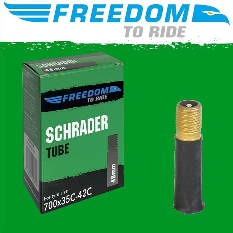 Freedom Butyl 700 x 35 42C Scharader Valve Bicycle Tube