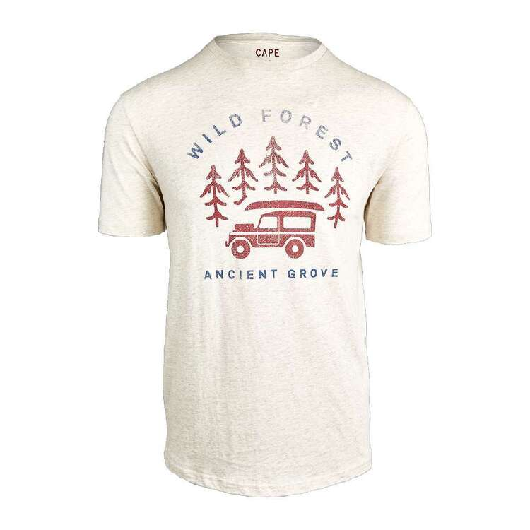 Cape Men's Wild Tee Oatmeal Marle