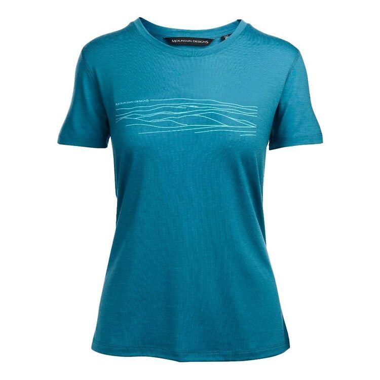 Mountain Designs Women's Corespun Tee Blue