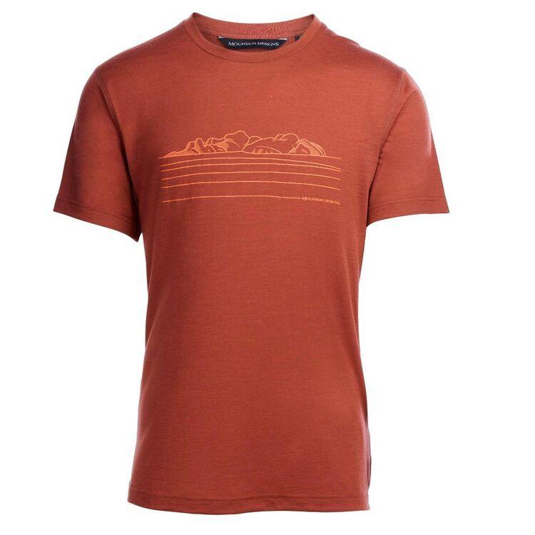 Mountain Designs Men's Corespun Tee Rust