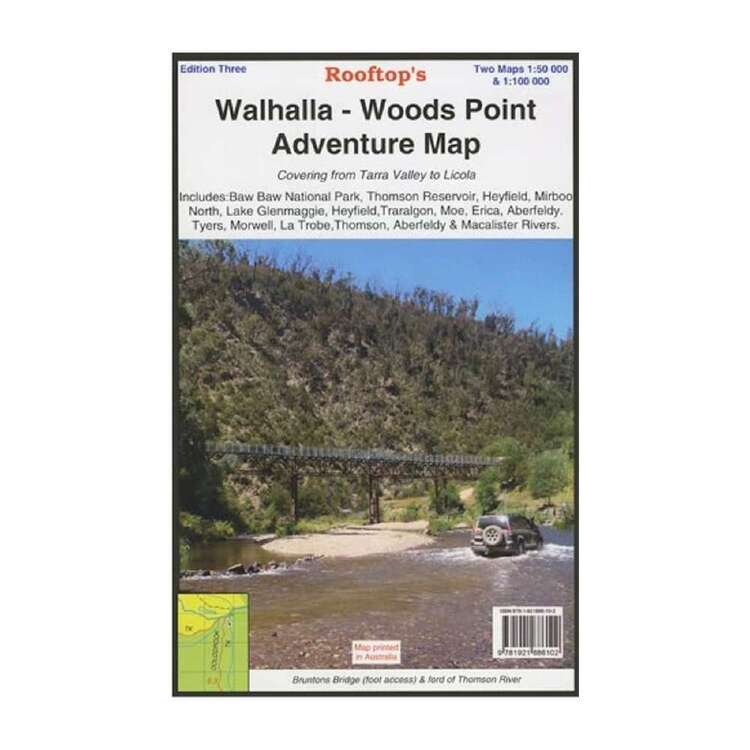 Rooftop Walhalla - Woods Point Map