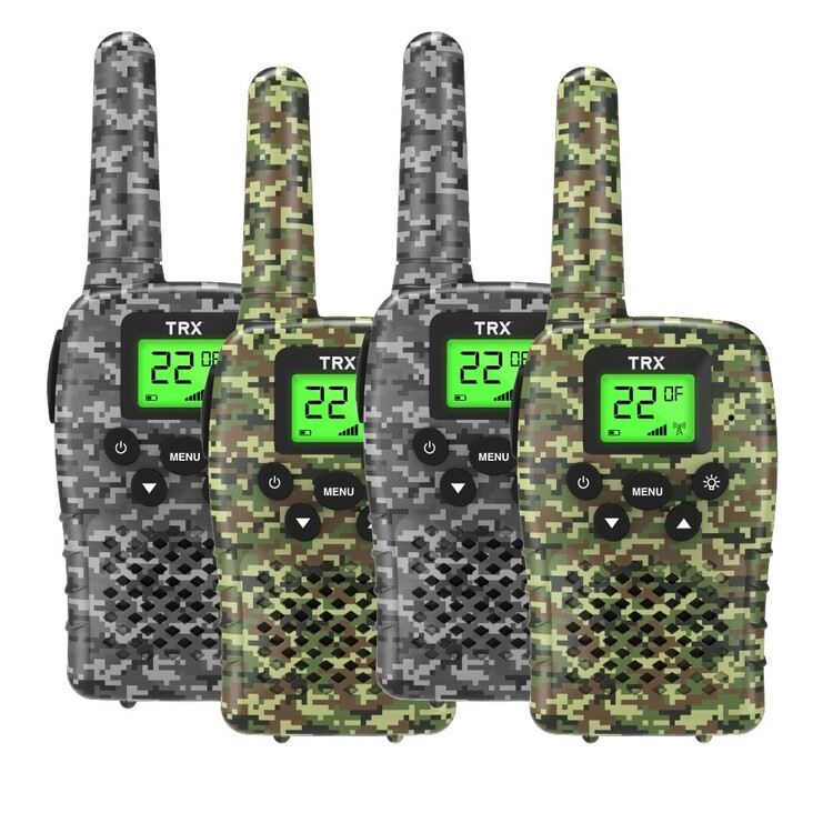 TRX UHF CB Camo Handheld Radio 4 Pack