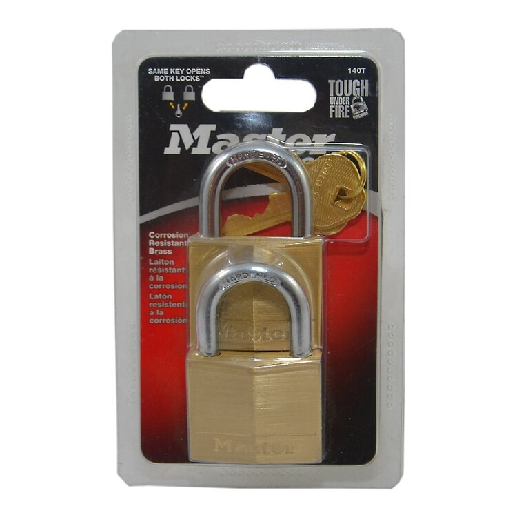 Master Lock Brass Padlock 2 Pack