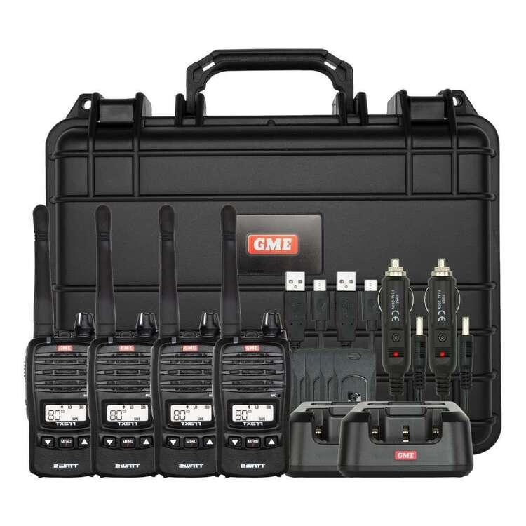 GME TX677 2 Watt UHF CB Handheld Radio Quad Pack