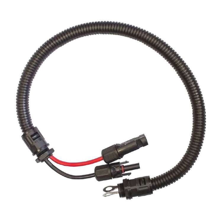 KT Cables MC4 Plug And Socket To 8mm Ring Terminals 600mm